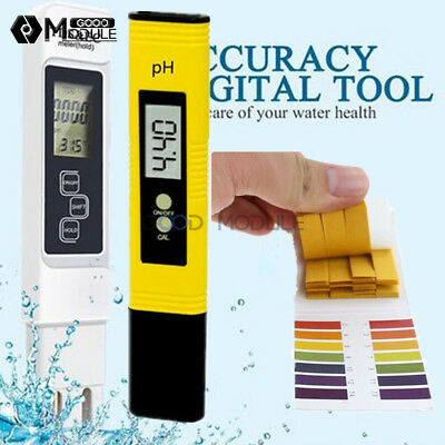 LCD Digital TDS EC PH Meter Tester Aquarium Pool Pen Water Meter PH Test Paper