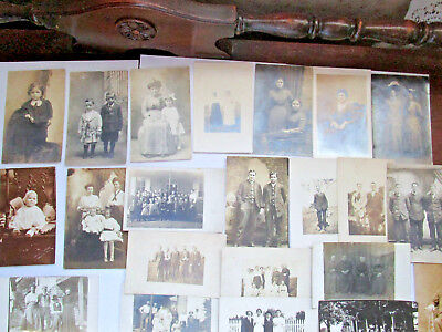 20 Early Family Photo Postcards South Central Pa  1909-1920