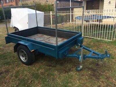 Box trailer 7x4 with rego. Good solid trailer at Moorebank