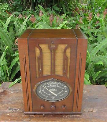 1936 Air Castle tombstone radio model 5102.  Restored inside & out.