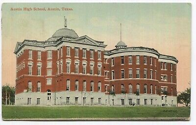 Austin High School, Austin, Texas Posted from Capitol Station 1911 VTG Postcard