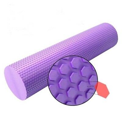 90CM Pilates Foam Roller Long Physio Yoga Fitness GYM Exercise Purple New