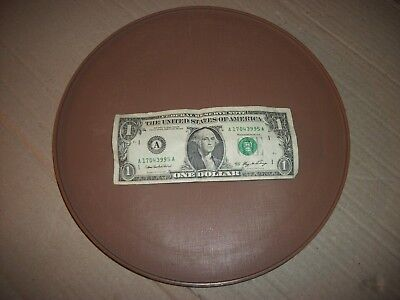 "Vintage Plastic Lazy Susan Turntable 10"" Inches Dark Brown - Unbranded"