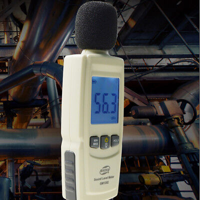 Digital Sound Level Meter Noise Volume Decibel Monitoring Tester 30-130dB TooFBB