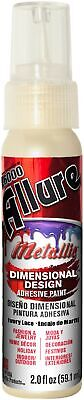 Allure Metallic Dimensional Design Adhesive Paint 2oz-Ivory Lace - 3 Pack