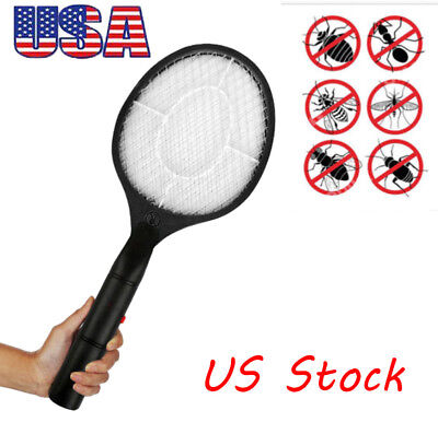 Rechargeable Electric Bug Zapper Cordless Mosquito Insect Fly Swatter Racket Big