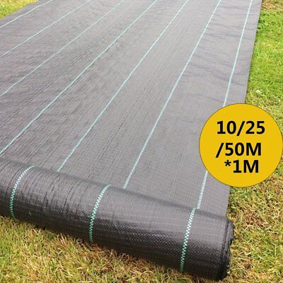 Weed Control Fabric Ground Cover Membrane Landscape Mulch Garden 10/25/50M X 1M