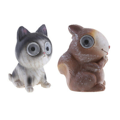 2pieces Bright Eyes Solar Light LED Pet Animal Garden Ornaments Great Gift