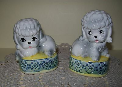 VINTAGE SET OF DOG / PUPPY SALT & PEPPER SHAKERS 8cm, circa 1950/60's (Japan)