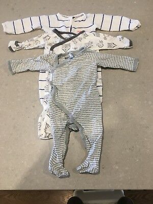 3 X Baby Boy BONDS Wondersuit Jumpsuits. Size 00. Suits 3-6 Months. EC