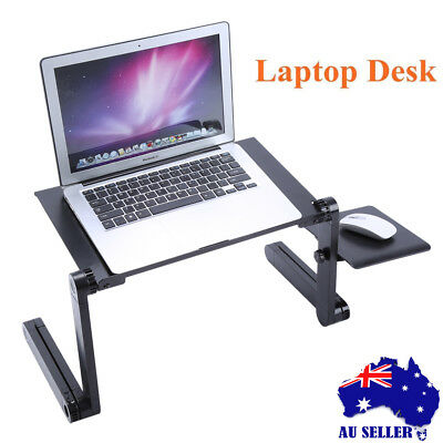 Mobile Laptop Desk Adjustable Notebook Computer iPad PC Stand Bedside Table New