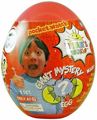 NEW! Ryan's World Giant Egg Surprise Slime Toy Review Exclusive Red or Yellow