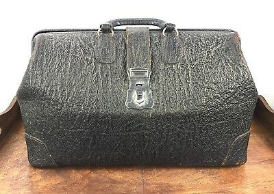 Antique/Vtg Exotic Leather Doctor's Bag Early 1900s GC Home Decor