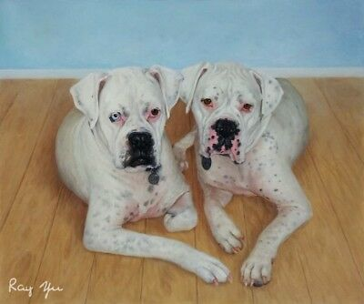Custom Pet Portrait Oil Painting from your Photo,Picture to Oil Painting - AD