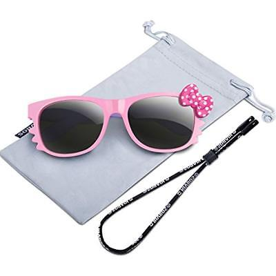 1a3c6639a1b Rubber Kids Polarized Sunglasses With Strap Glasses For Boys Girls Baby And  Age