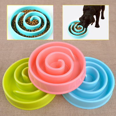 Puppy Pet Dog Cat Food Water Dish Slow Eating Anti Choking Feeding Bowl Feeder