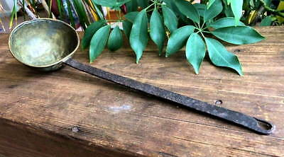 Antique Brass and Iron Dipper or Ladle -- 17 inches long