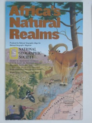 National Geographic Map 2001 September:  Africa's Natural Realms