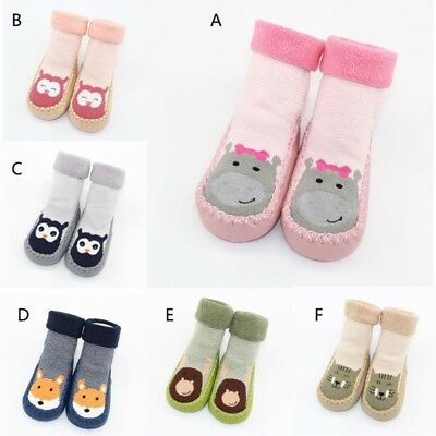 Baby Girl Boys Anti-slip Knitted Socks Shoes Cartoon Cute Slipper Casual Boots