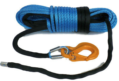 100ft 11mm Corde Synthétique Treuil,& Crochet,Upmwpe 4x4 Hors Route Heat & Wear