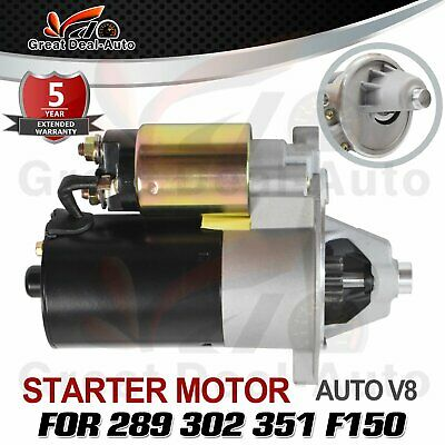 Brand New Starter Motor for Ford 289 302 351 Cleveland Clapper Windsor V8 Auto