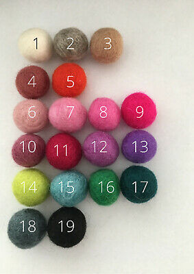 Felt Balls 2cm Pom Pom Choose Colours DIY Craft Make Your Own