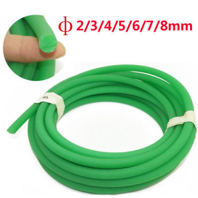 Round Urethane Drive Belt Diameter 2/3/4/5/6/8/10mm Rough Surface Green 1M