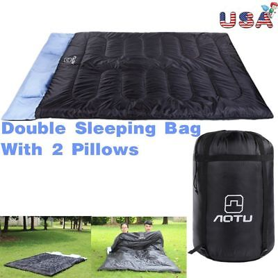 Double Self Inflating Pad Sleeping Mattress Air Bed Camping Hiking Mat Thicken