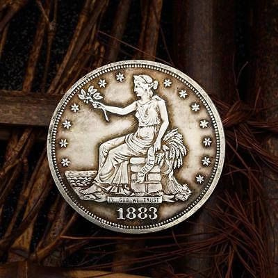 1883 Flower Goddess Commemorative Round Coins Bitcoin Gold Plated Coins