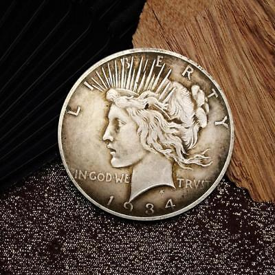 1934 The Goddess of Peace Commemorative Round Coins Bitcoin Silver Plated Coins