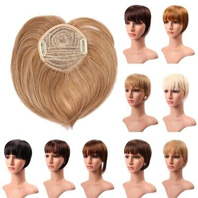 Us Fast Post Long Side Bang Clip In On Fringe Hair Extensions Front