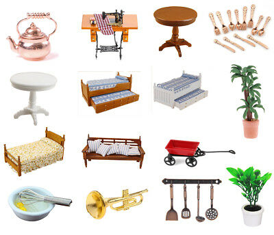 Various Mini Doll House Furniture Accessories for 1:12 Dollhouse Miniatures Toys