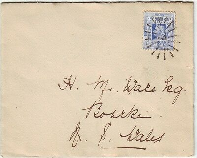 """OLD COLONY  NEW SOUTH  WALES  1 COVER TO OUTBACK BACK of BOURKE  """" SUN RAY"""" = 7"""