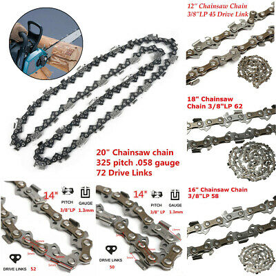 "12''/14''/16''/18''/20'' Chainsaw Chain Blade 3/8"" 325 Replacement Saw Parts"