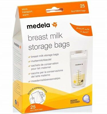 Medela Breastmilk Storage Bags, 25-50-Count Medela Pump and Save Bags BPA-FREE