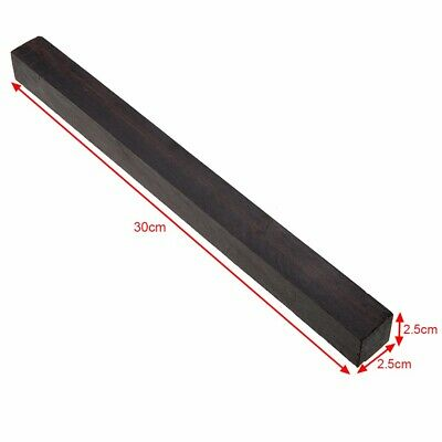 Ebony Lumber Gabon Timber Handle Blank For Musical Instruments 30x2.5x2.5cm
