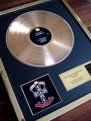 Guns N' Roses Appetite For Destruction 24Ct Gold Plated Disc Record Award Album