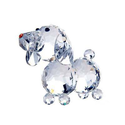 Crystal Glass Dog Figurines Paperweight Crafts Collection Table Home Decoration