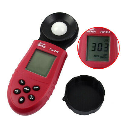 200,000 Lux/FC Light Meter Precision Digital Luxmeter Illuminometer Photo Tester