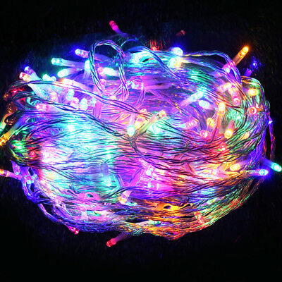 50M Christmas String Lights 250LED Party Wedding Outdoor Garden Multi Colour