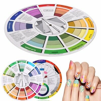 Artists Color Wheel Mixing Guide 23.5cm Diameter Nail Color Embroidery Wheel