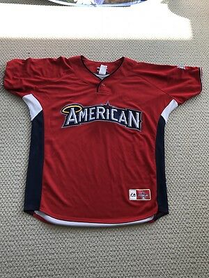 Authentic Majestic American League MLB All Star Baseball Jersey Size Large