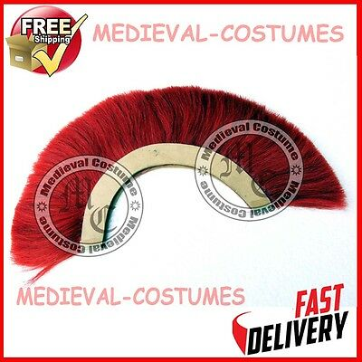 Red Plume Red Crest Brush Natural Horse Hair For Roman Helmet Armor New Larp