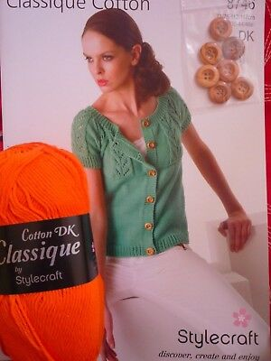 Stylecraft Classique Cotton DK Ladies Top Knitting Kit