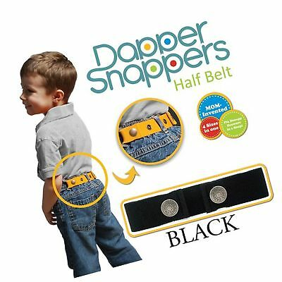 Dapper Snapper Made in USA Original Toddler Adjustable Belt-Black Free Shipping