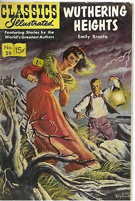 """Classics Illustrated #59 """"Wuthering Heights"""" - January 1964"""