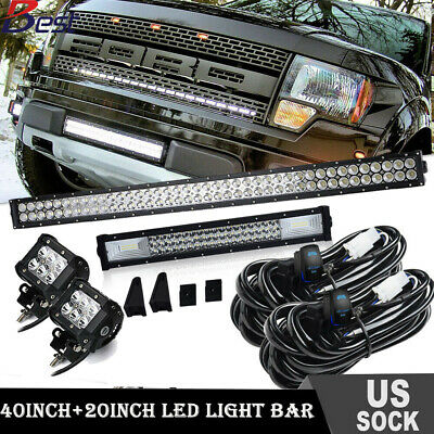 42inch +20'' LED Work Light Bar Flood Spot Combo with Wiring Harness Kit