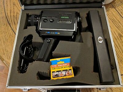 Vintage Chinon 505 XL Direct Sound Super 8 Movie Camera Microphone Carry Case
