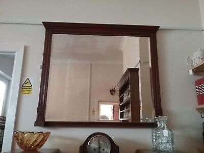 Antique Edwardian Wall Hanging Over Mantle Mirror