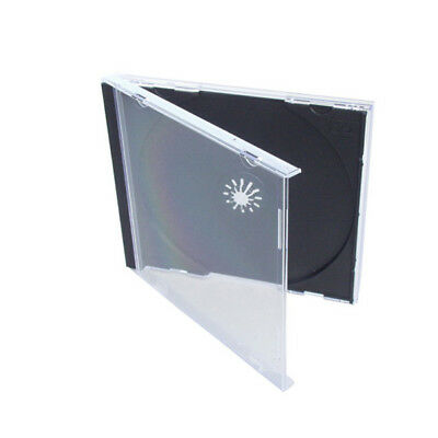 10 Single Standard CD DVD Jewel Cases with Black Tray Holds 1 Disc Free Shipping